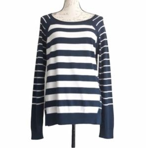 NYDJ Striped Knit Boatneck Sweater NWOT Sz S
